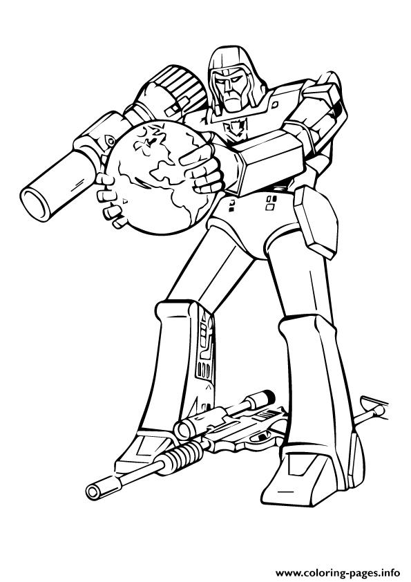 Transformers Lone Fighter A4 Coloring Pages Printable