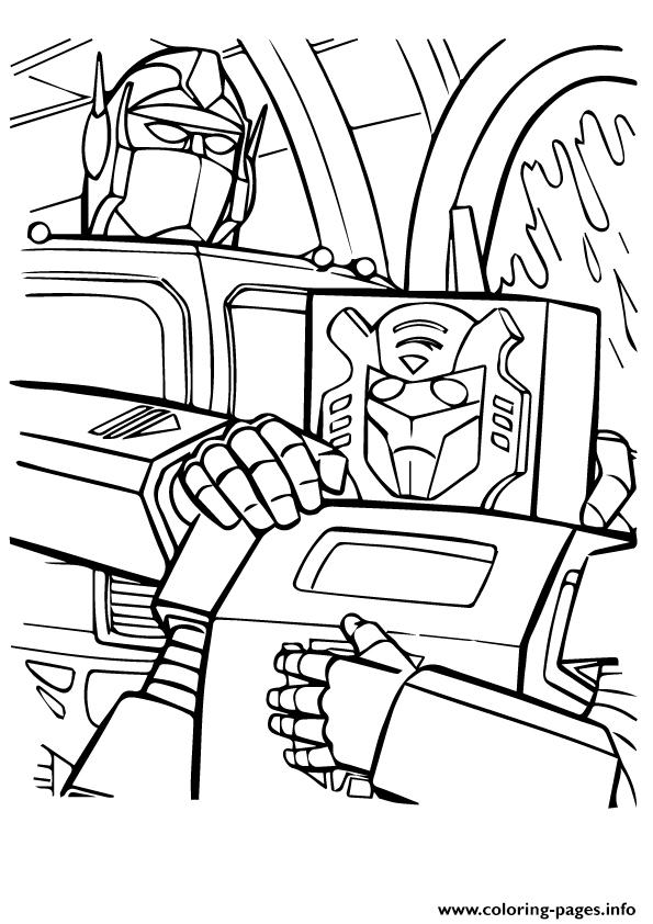 Transformers Tall And Small A4 coloring pages