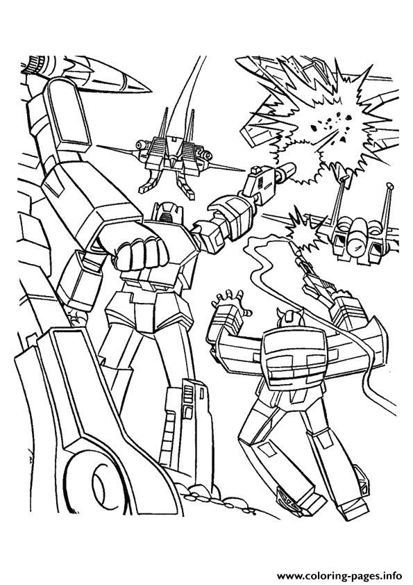 Transformers Its War Time A4 coloring pages