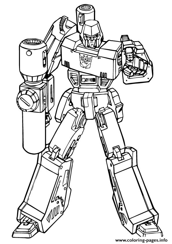 Transformers Putting Down The Gun A4 coloring pages