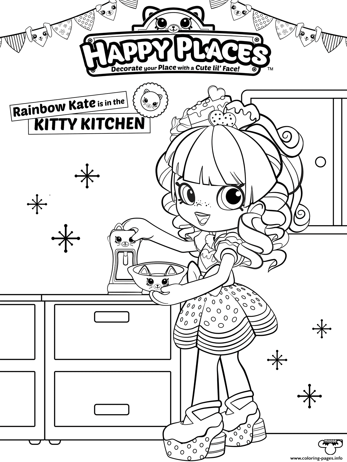 shopkins happy places coloring pages printable