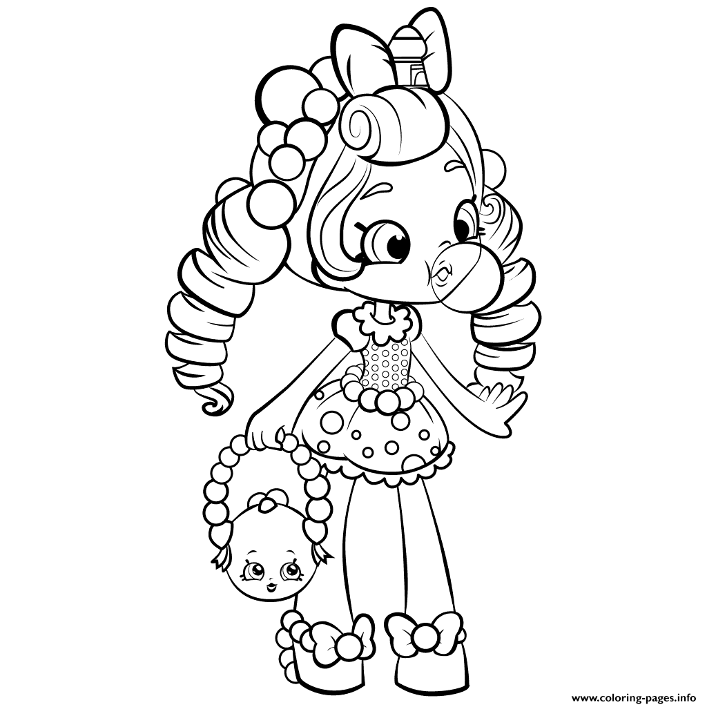 Coloring games of shopkins - Shopkins Shoppies Doll Coloring Pages