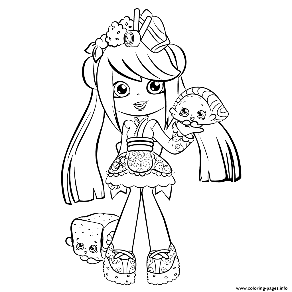 shopkin doll coloring pages - photo#3
