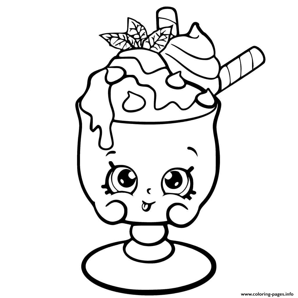Coloring pages info - Choc Mint Charlie From Shopkins Season 6 Chef Club Coloring Pages Printable