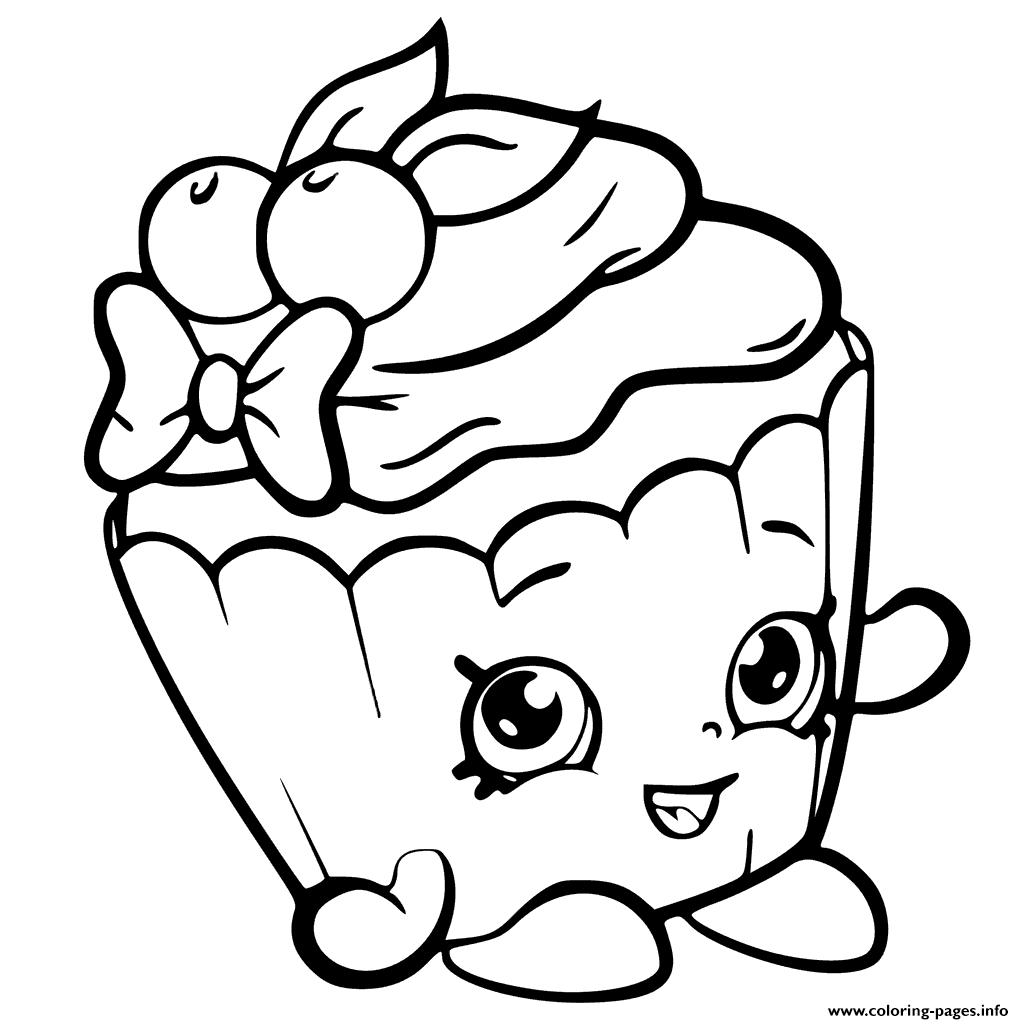 Cherry nice cupcake from shopkins season 6 coloring pages printable