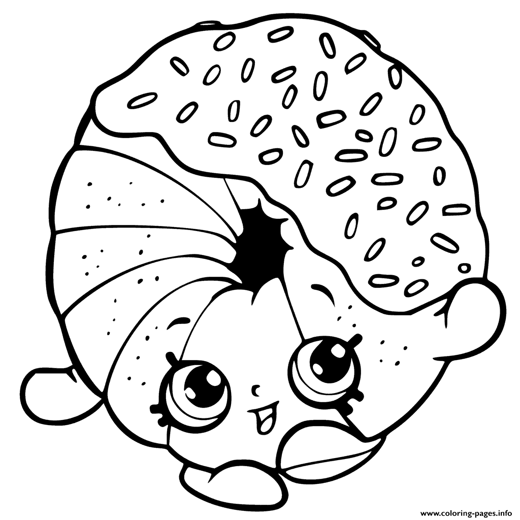 Dippy Donut coloring pages