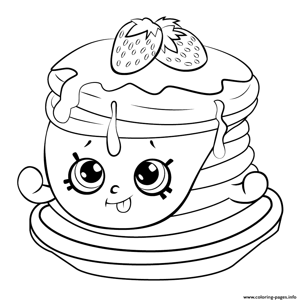 Ultra rare strawberry pancake shopkins season 6 coloring pages printable