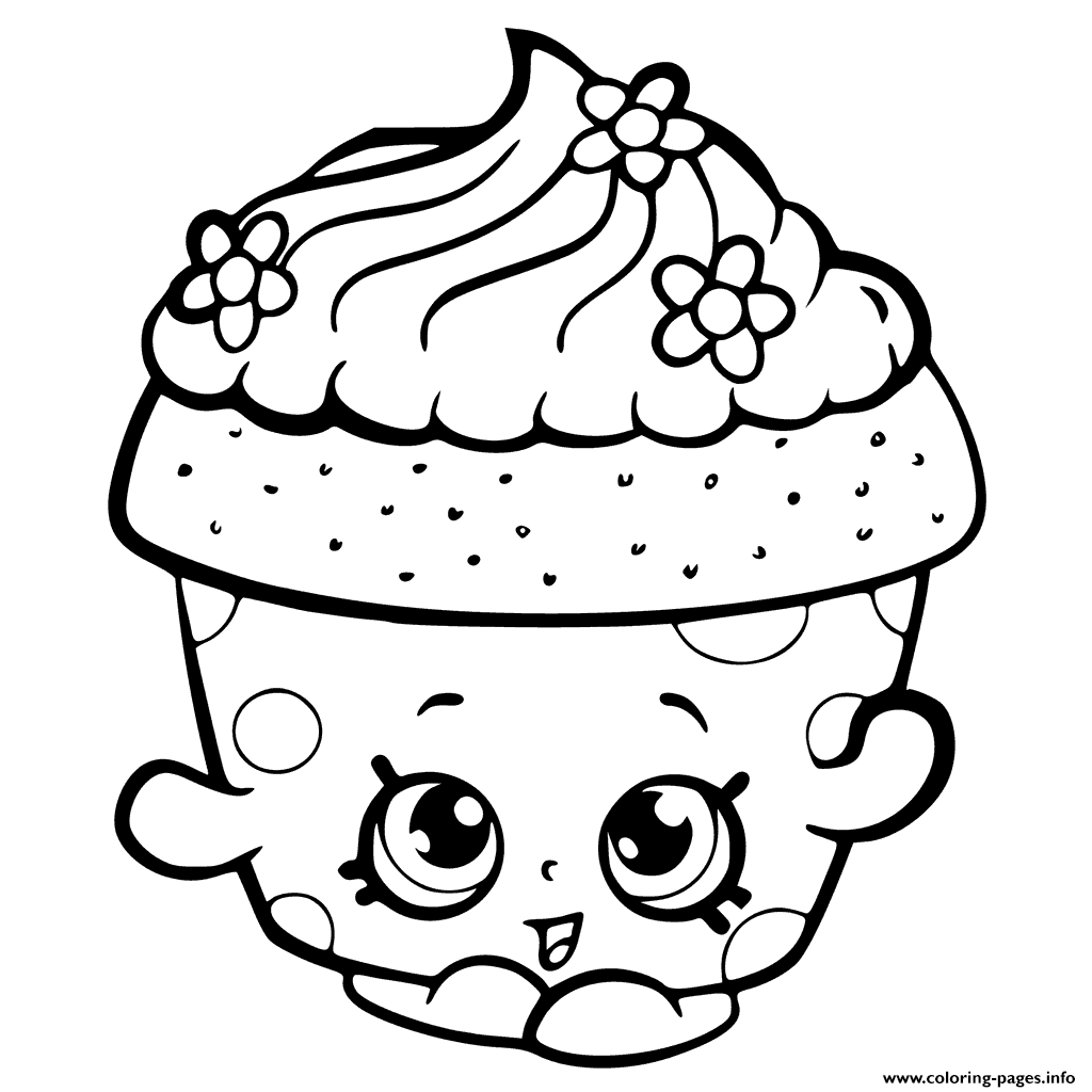 Shopkins Season 6 Cupcake Petal Colouring Print Coloring Pages