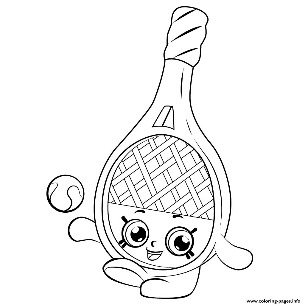 Tennis Racket Shopkins Season 5 Coloring Pages Printable