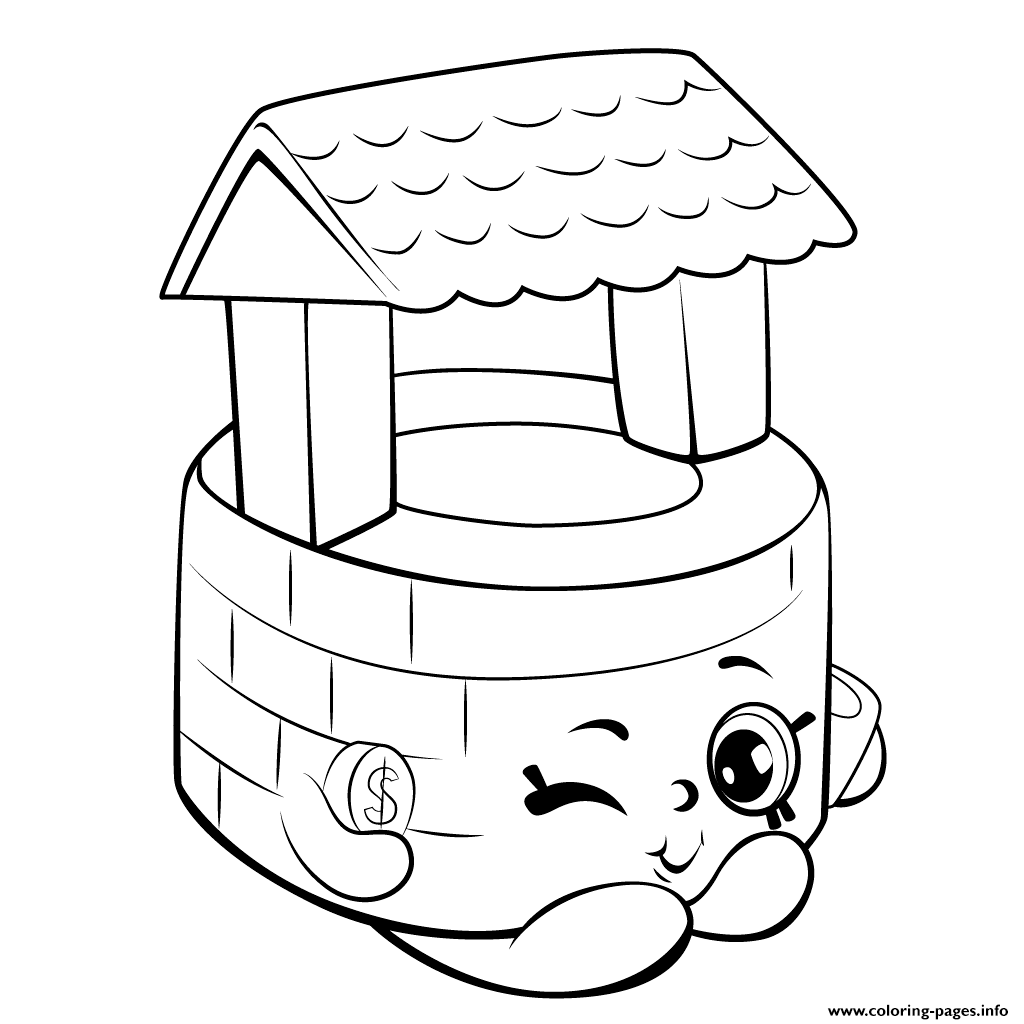 Shopkins coloring pages wishes - Wishing Well Shopkins Season 5 Coloring Pages