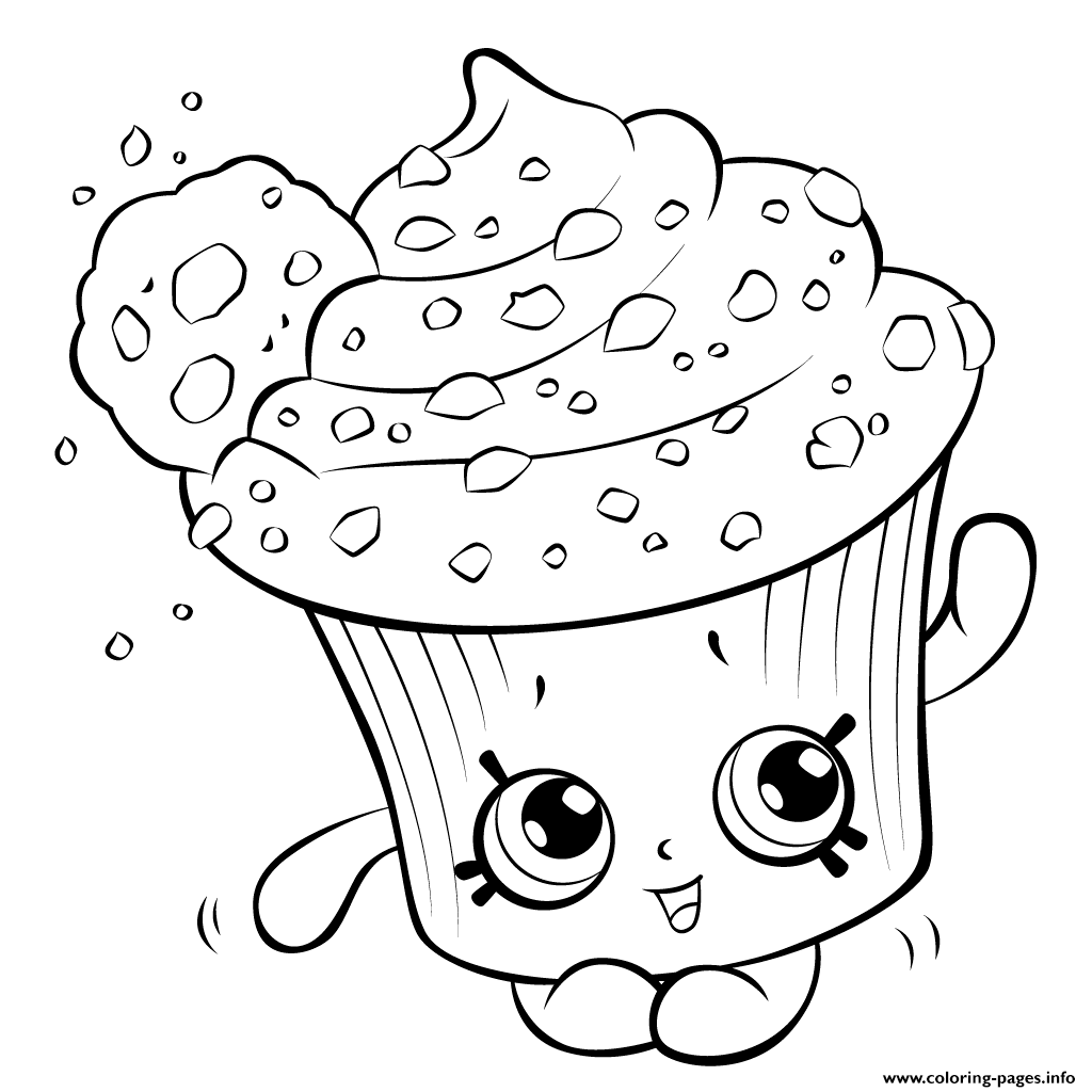 Amazing Cupcake For Kids Shopkins Season 5 Coloring Pages Print Download 488 Prints