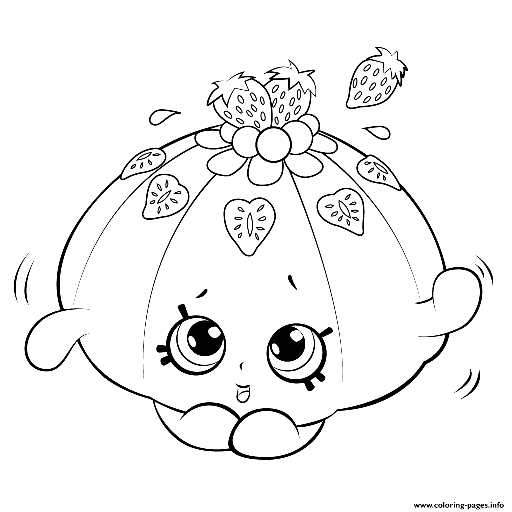 cute fruit jello shopkins season 5 coloring pages printable - Hopkins Coloring Pages Print