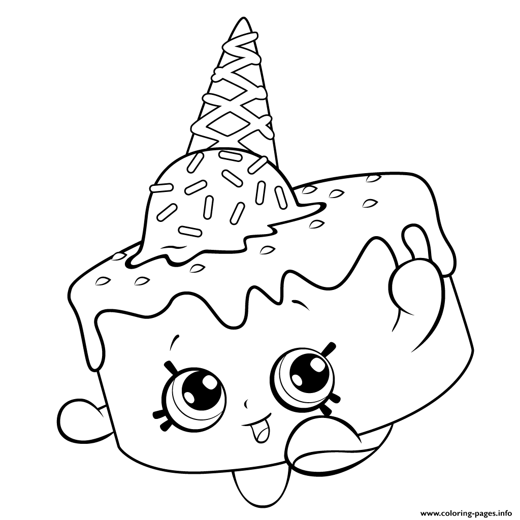Ice Cream Coloring For Free Shopkins Season 5 Pages