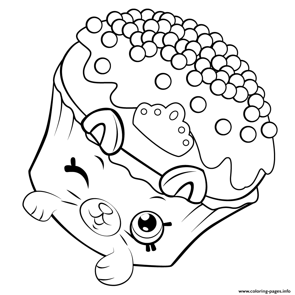 Petkins Cupcake Shopkins Season 5 Coloring Pages Printable