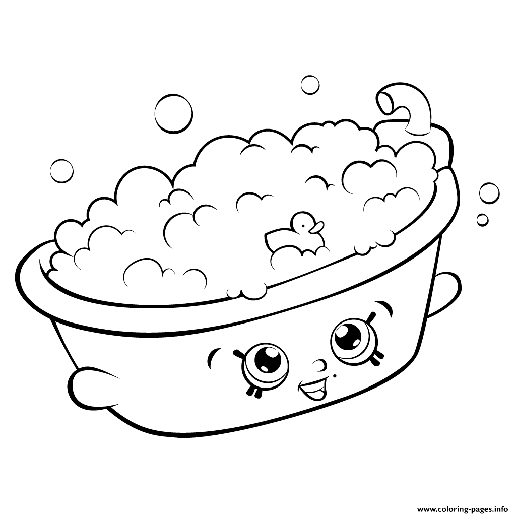 Bathtub shopkins season 5 coloring pages