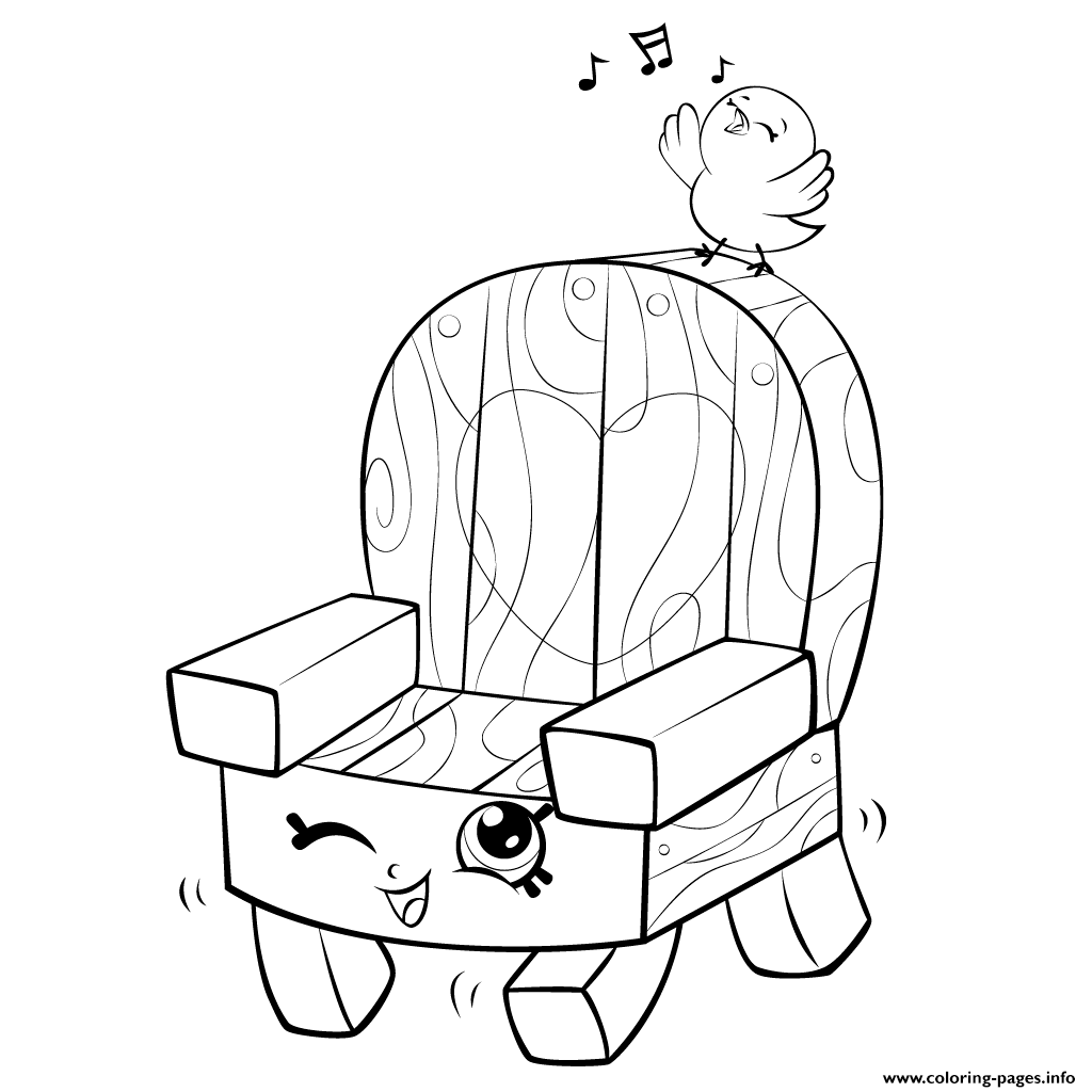 Garden Chair And Bird Shopkins Season 5 coloring pages