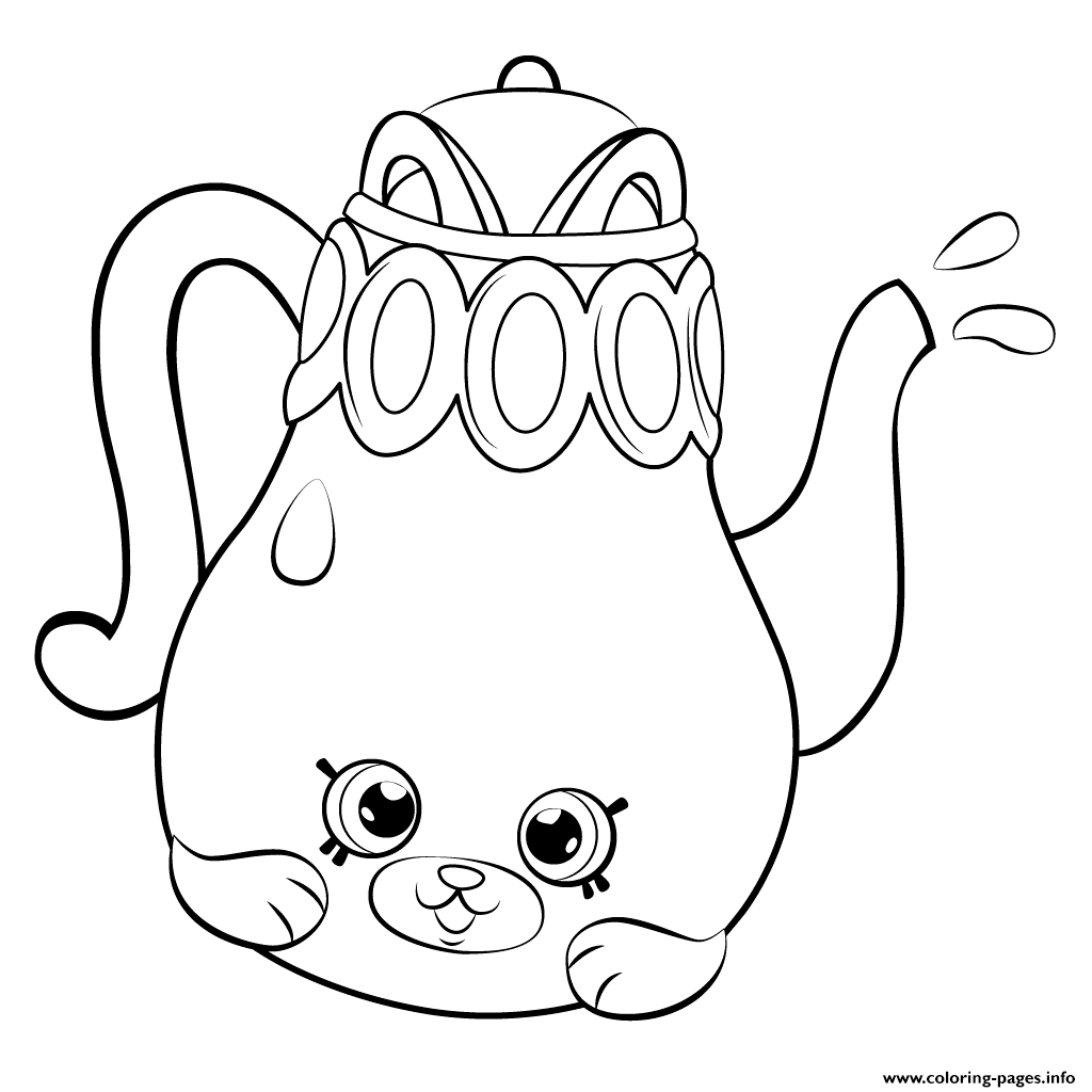 Petkins tea pot from season 5 shopkins season 5 coloring for Shopkins printable coloring pages