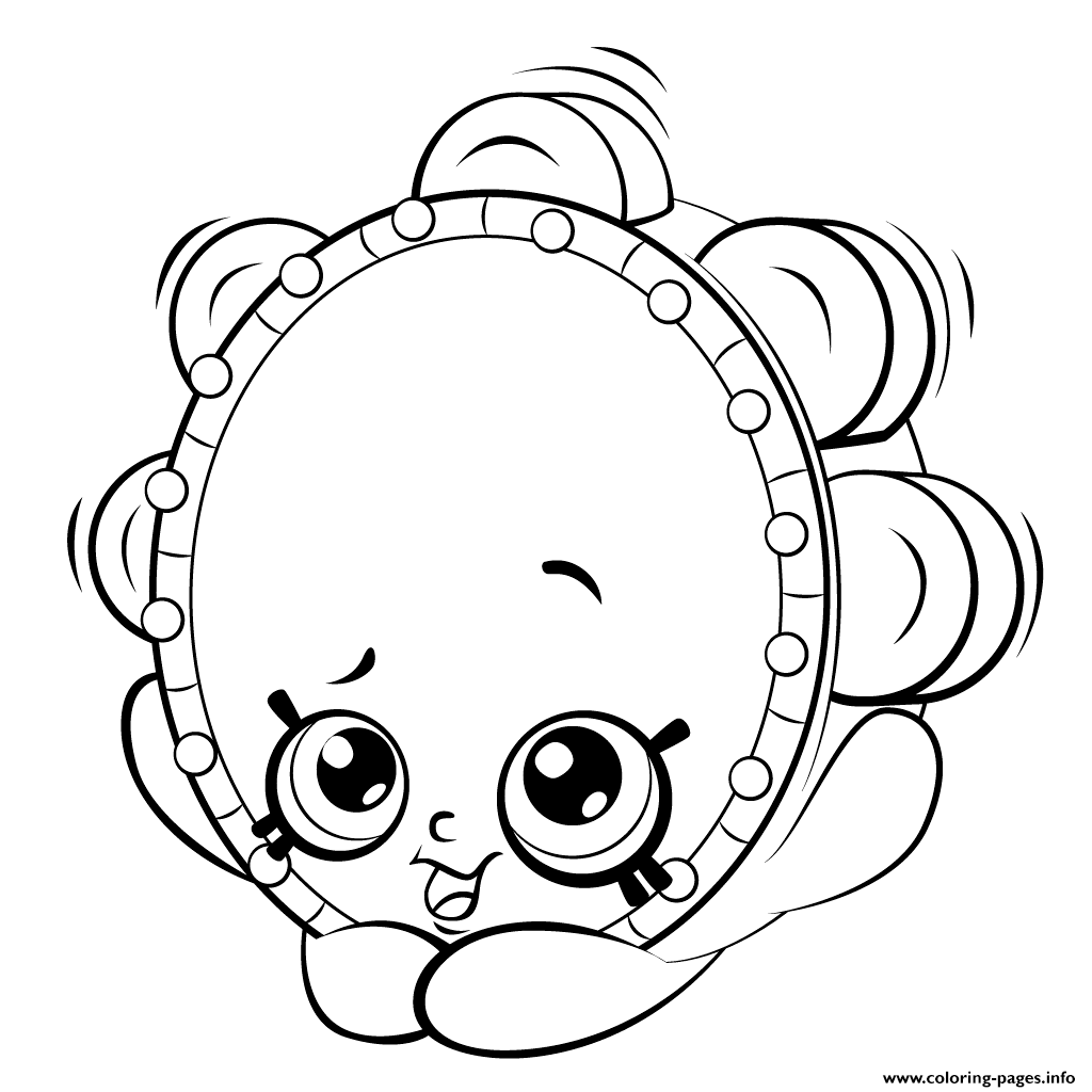 Tambourine From Shopkins Season 5 Coloring Pages