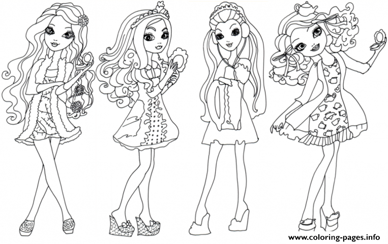 Ever After High 1 Coloring Pages Print Download 265 Prints