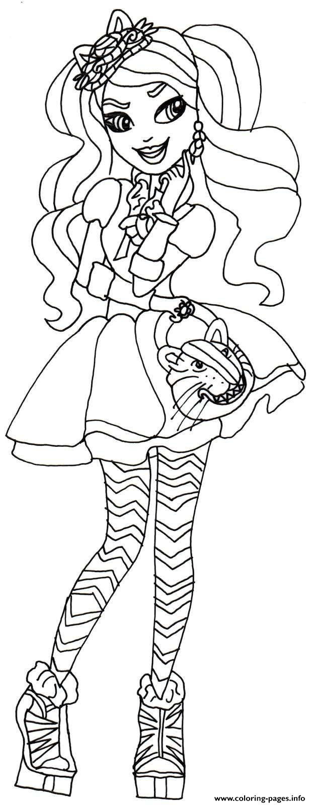 Kitty Cheshire Ever After High Coloring Pages Printable