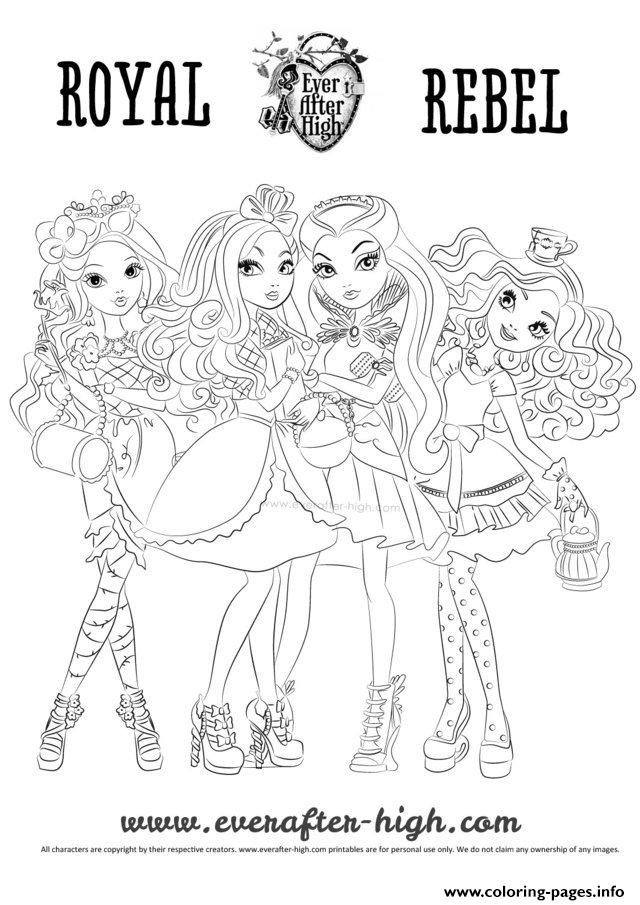 Ever After High Raoyal Rebel coloring pages