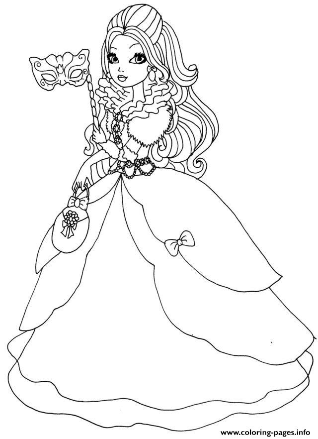 Apple White Thronecoming Ever After High Doll coloring pages