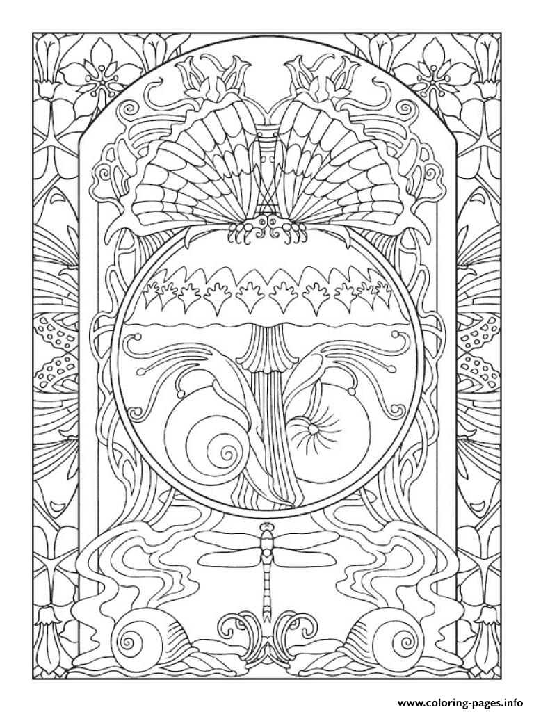 Art Anti Stress Adult Nature Zen coloring pages