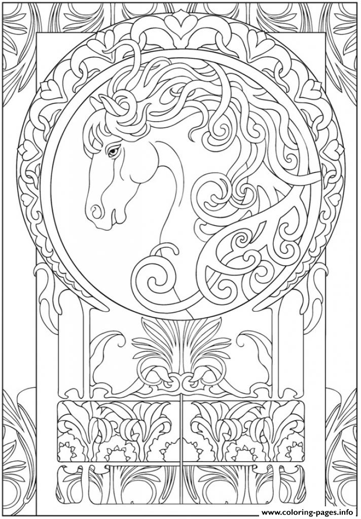 Art Animal Horse Zen Adults coloring pages