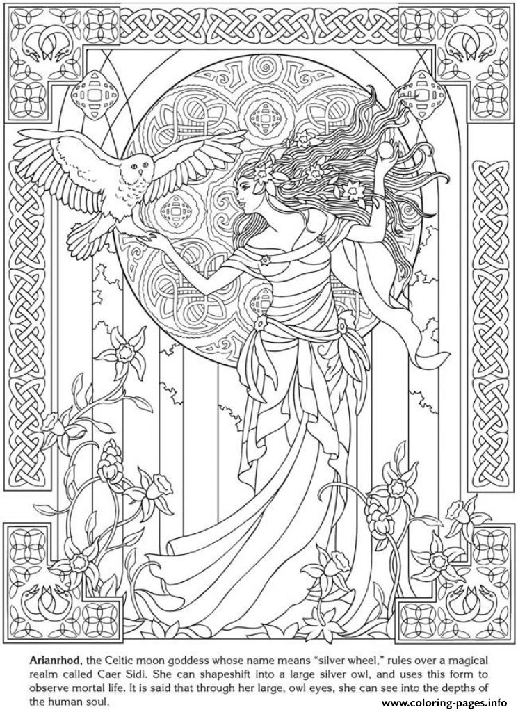 Art Anti Stress Adult Fancy Fairy coloring pages