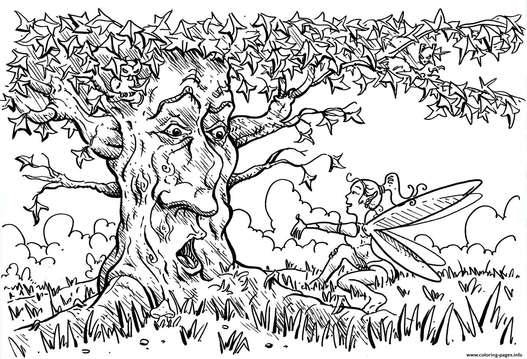 Adult For Adults Arbre coloring pages