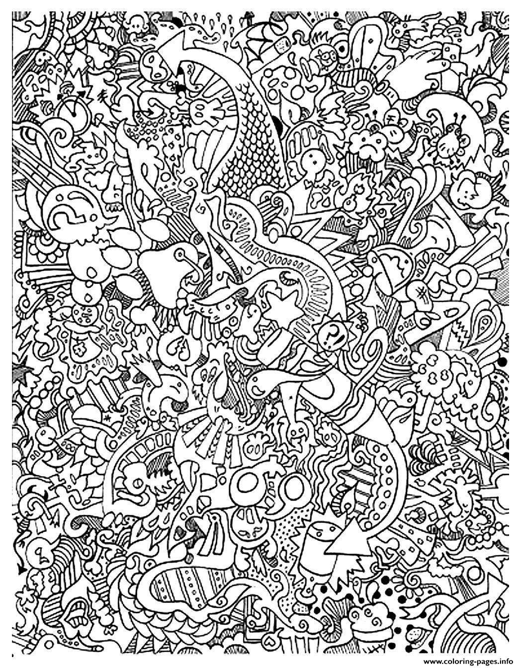 Adult Doodle Art Doodling 15 Coloring Pages Printable