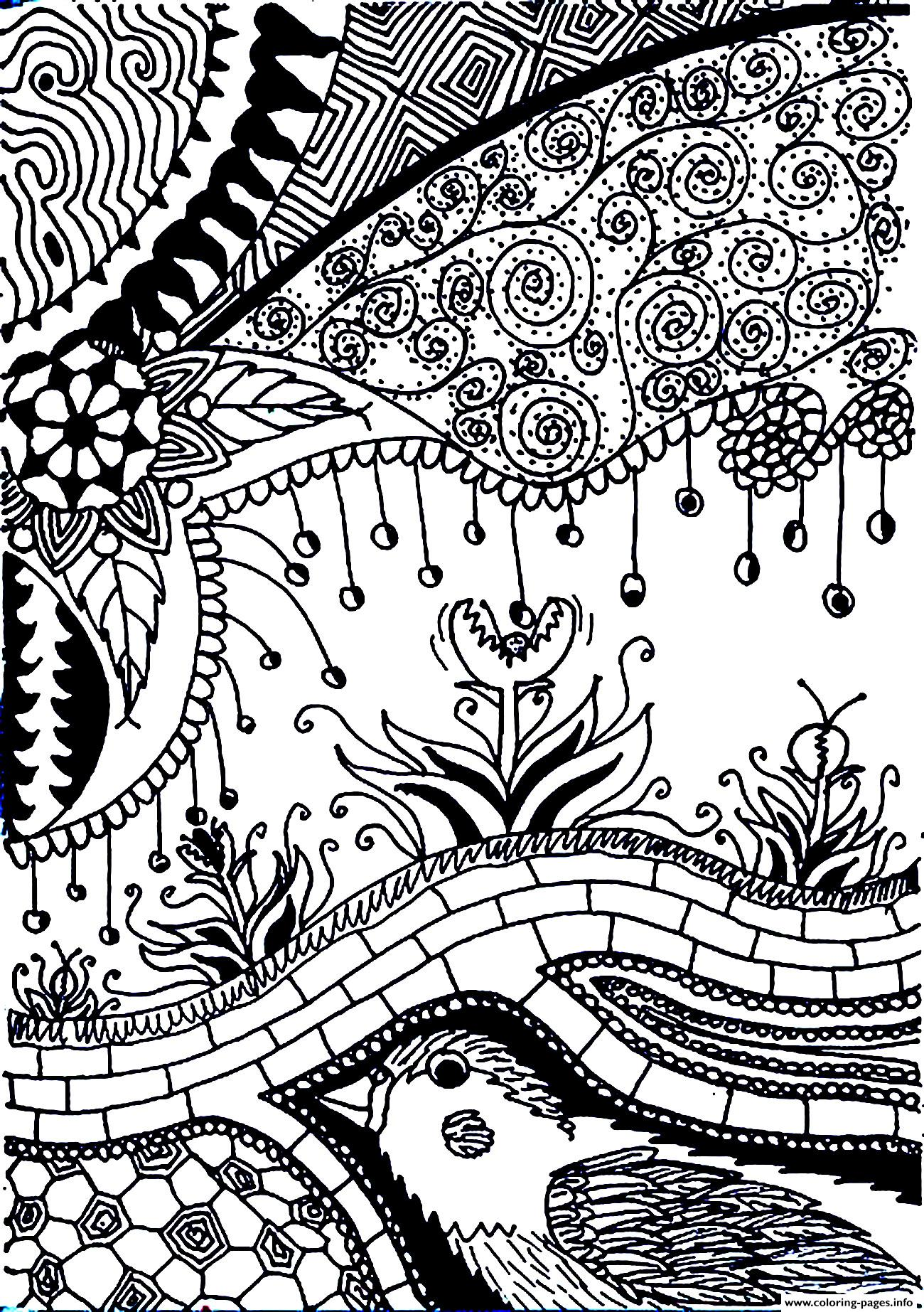 Adult Flower Carnivorous coloring pages