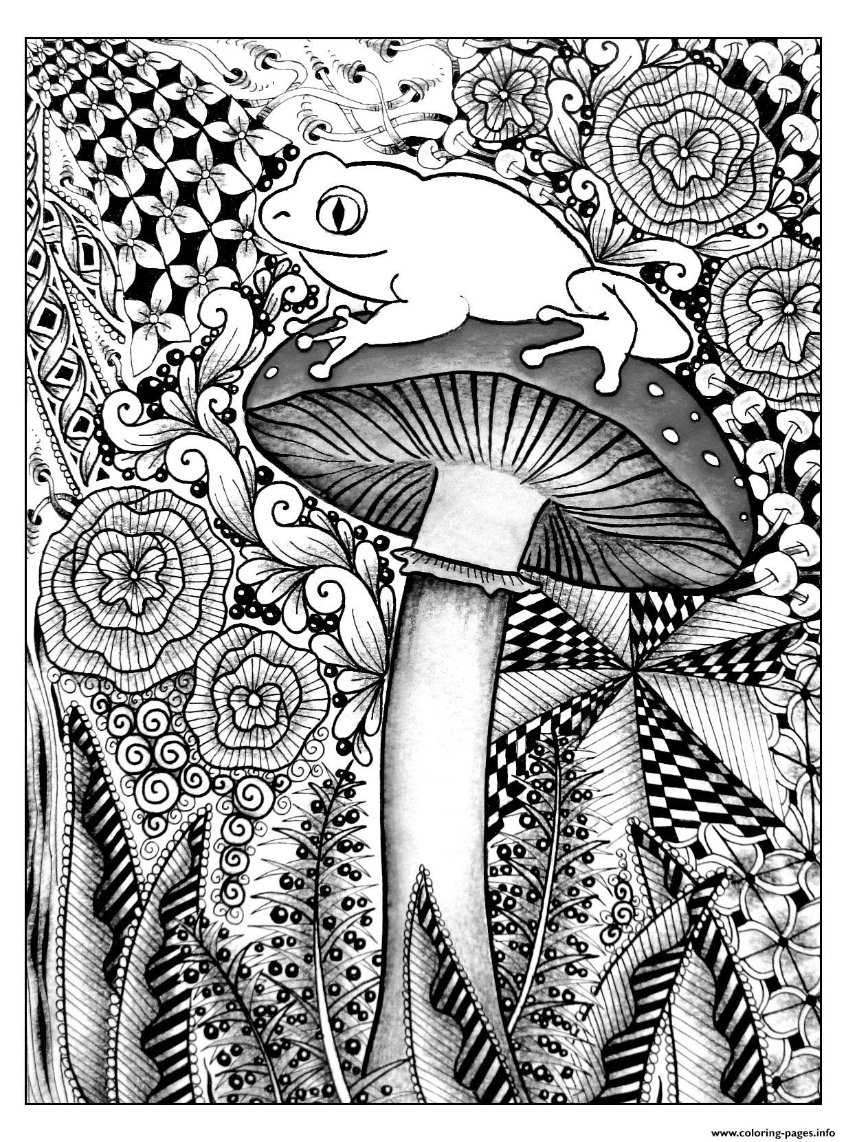 Adult Forest Frog coloring pages