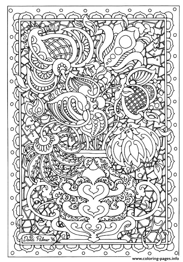 Adult Flower Abstrait coloring pages