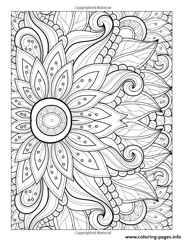 Adult Flower With Many Petals coloring pages