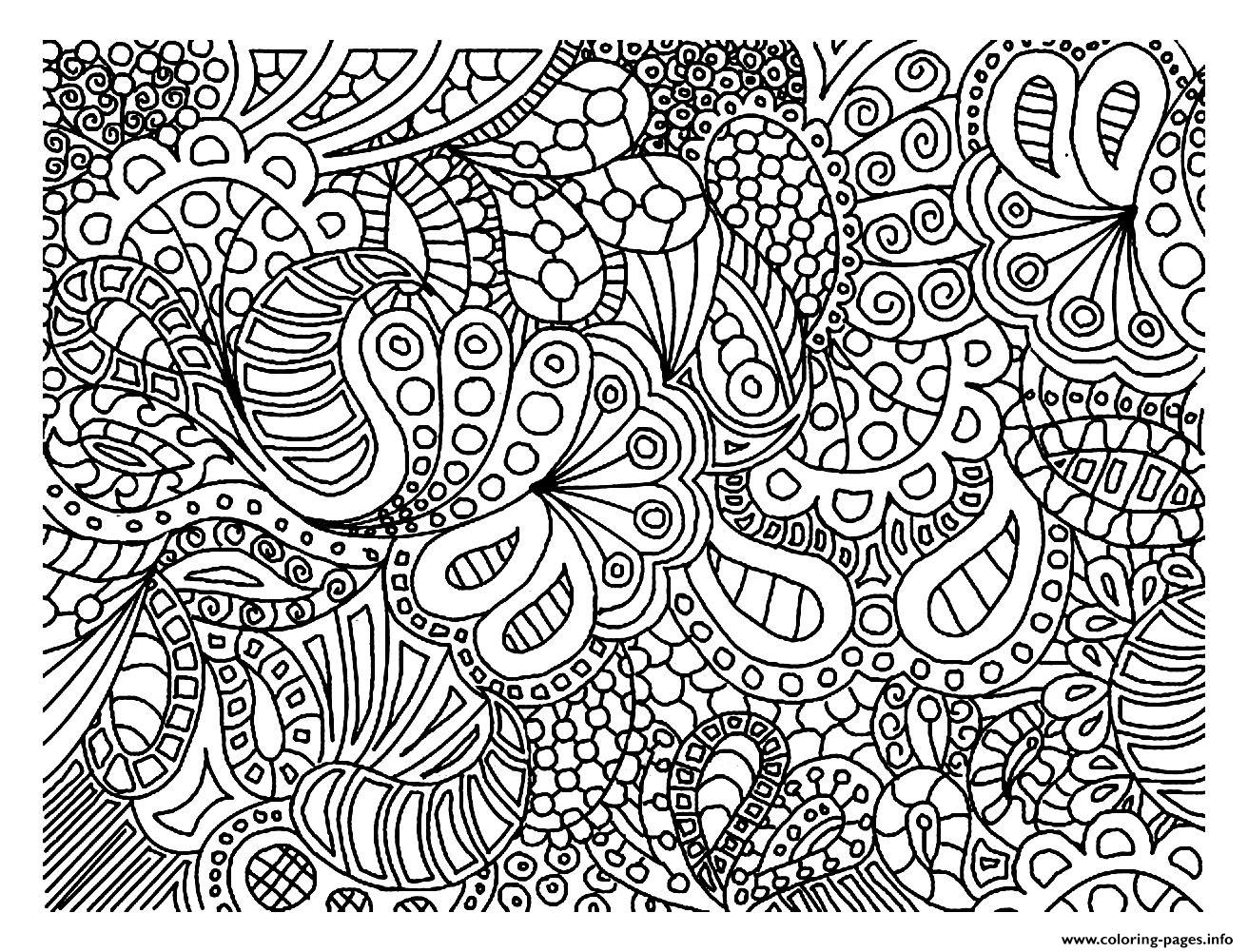 Adult Doodle Art Doodling 2 Coloring Pages Printable
