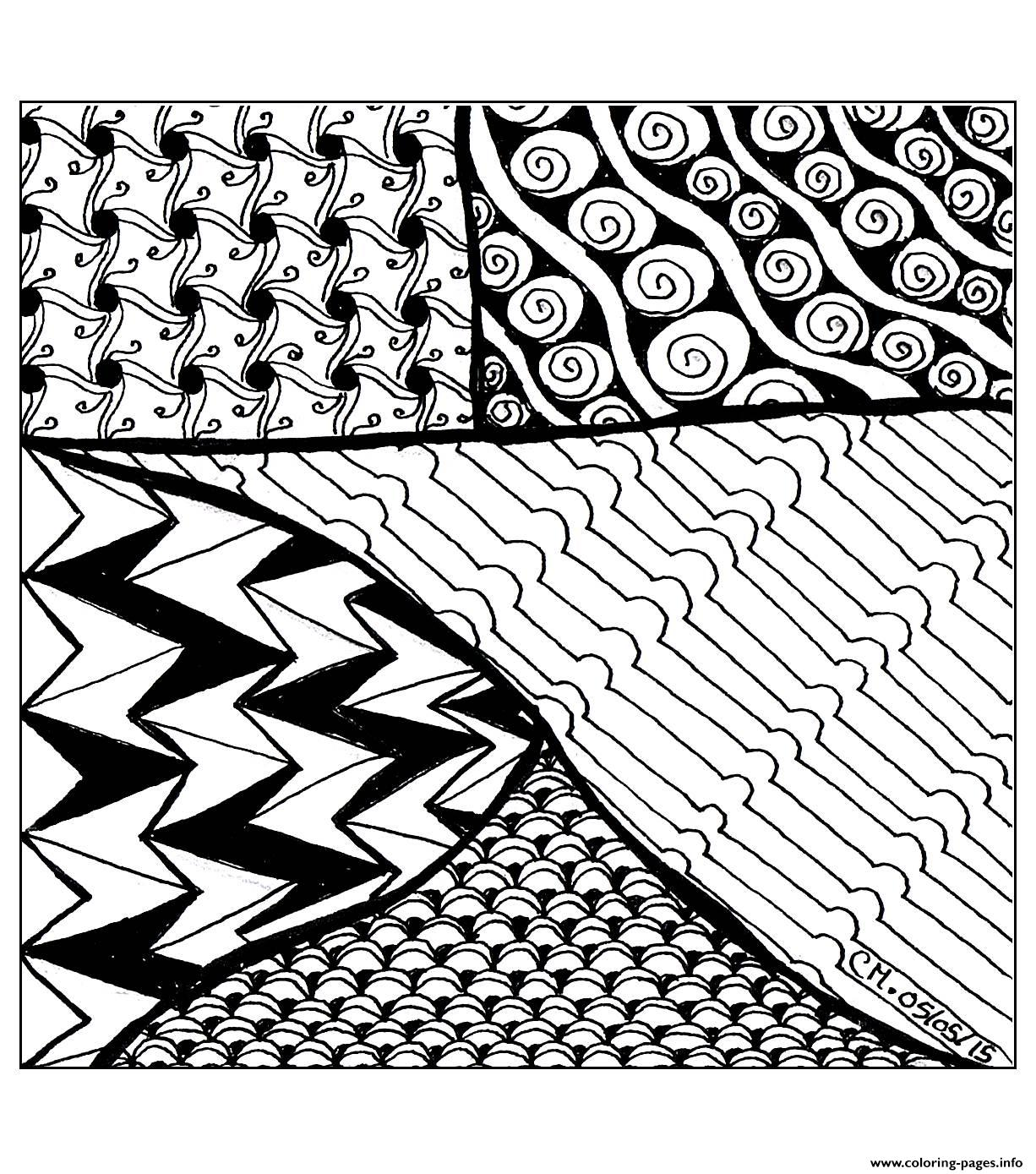 Adult Zentangle By Cathym 26 coloring pages