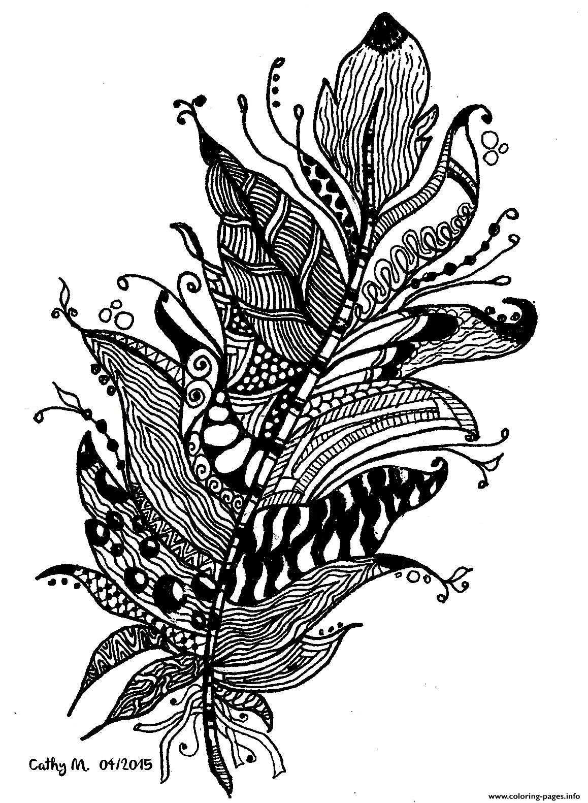Adult Zentangle By Cathym 11 coloring pages