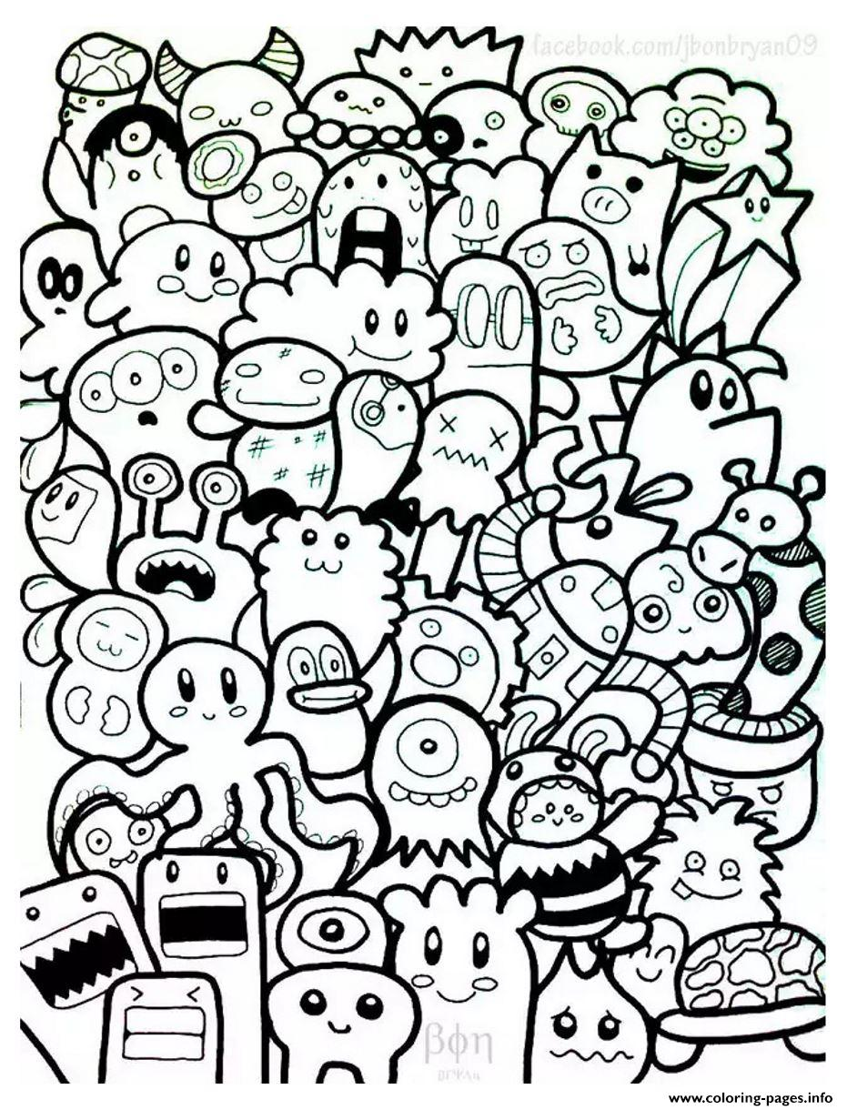 Adult Doodle Art Doodling 7 coloring pages