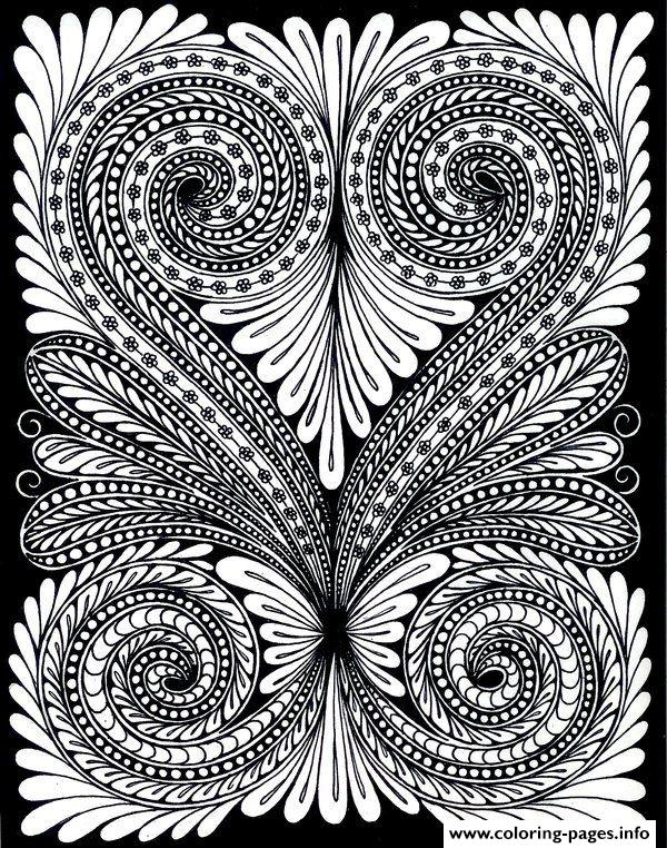 Adult Leave Optical Illusion coloring pages