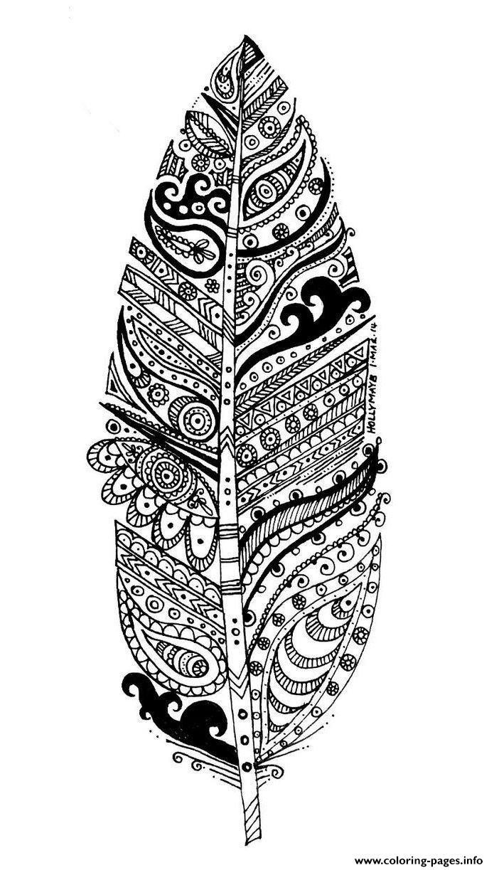 Adult Leave And Patterns coloring pages
