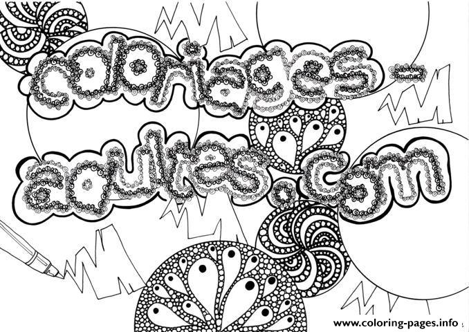 Adult Coloriagesadultes By Zenfeerie coloring pages