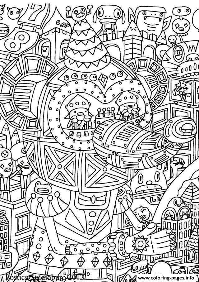 Adult Doodle Art Doodling 10 coloring pages