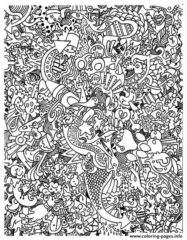 Adult Doodle Art Doodling 18 coloring pages