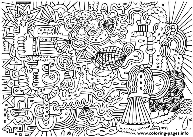 Adult Doodle Art Doodling 2 coloring pages