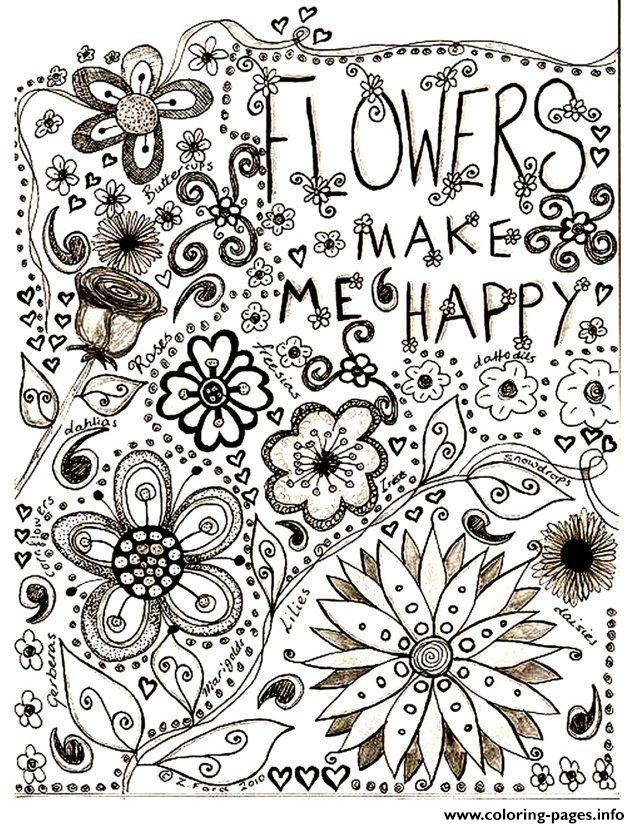 Adult Flowers Drawing coloring pages
