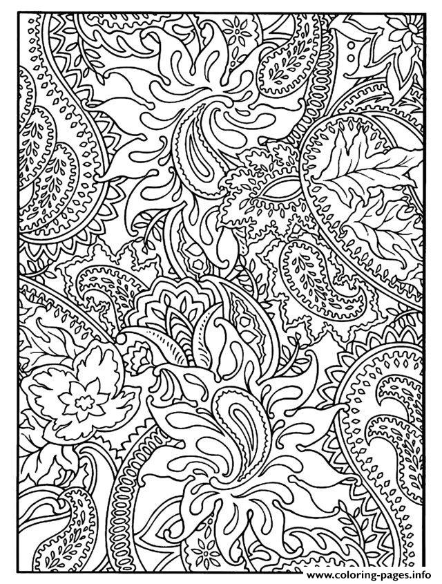 Adult Flowers To Print coloring pages