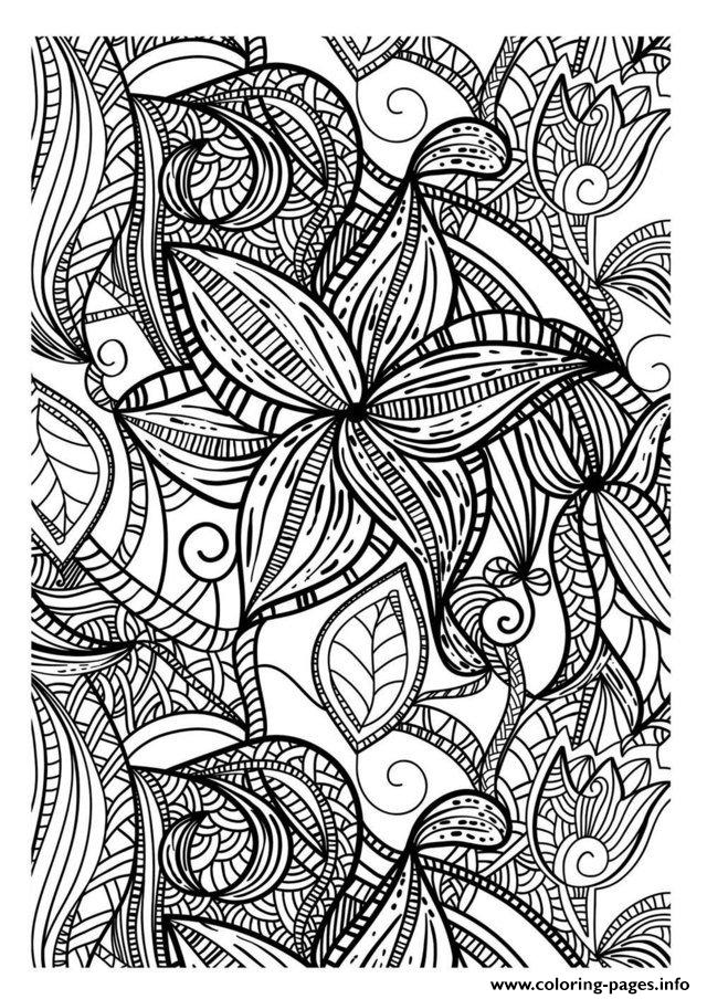 Adult Flowers Dark coloring pages