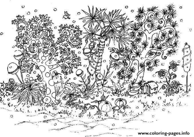 Adult Garden coloring pages