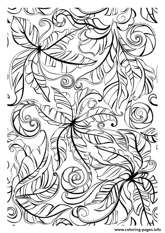 Adult Leaves coloring pages